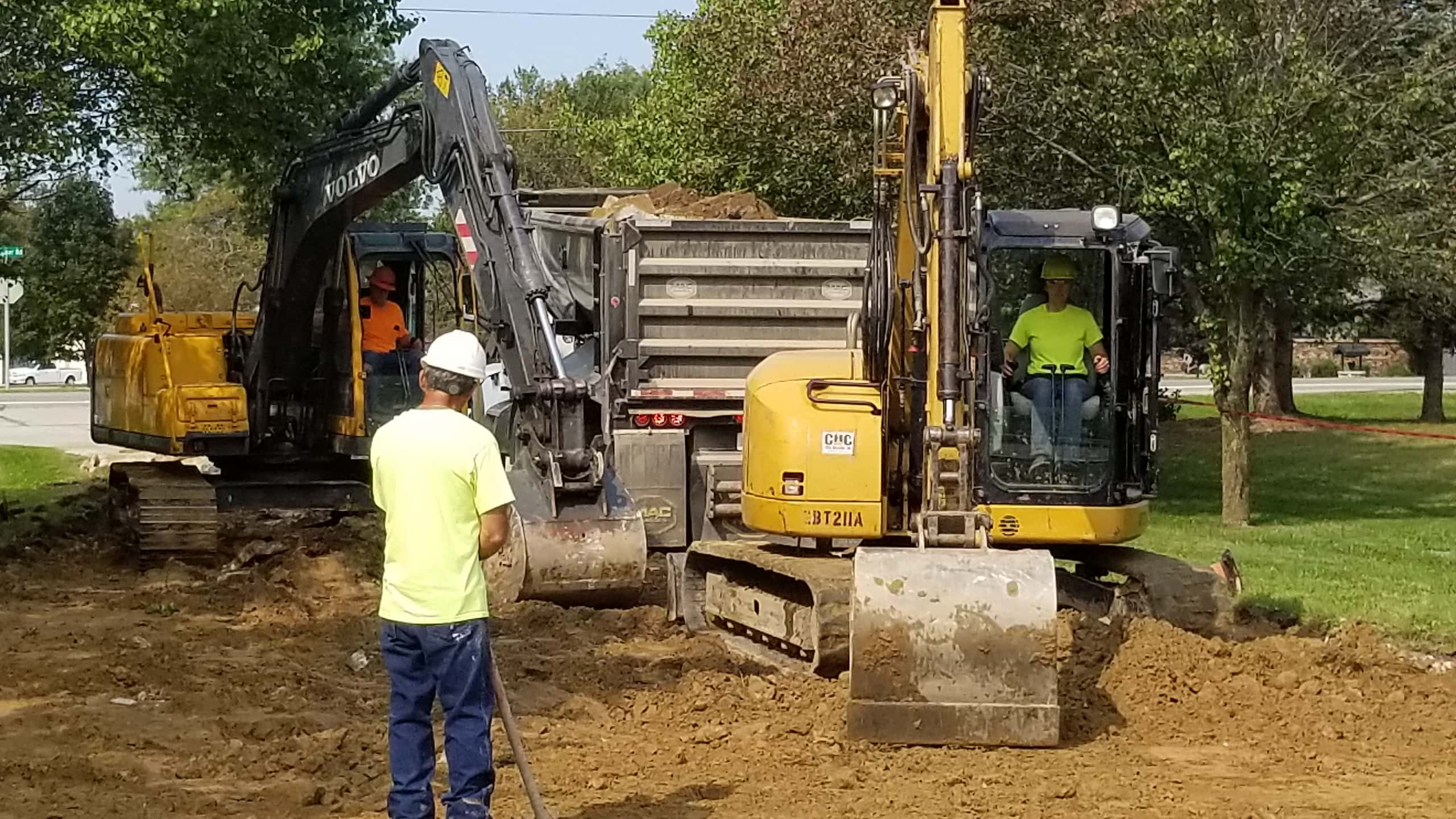 Excavation with CHC total equipment